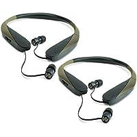 Walker Razor X Retractable Hunting Digital Noise Reduce Ear Bud Headset (2 Pack)
