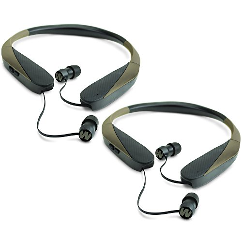 Walker Razor X Retractable Hunting Digital Noise Reduce Ear Bud Headset (2 Pack) by Walker's Game Ear