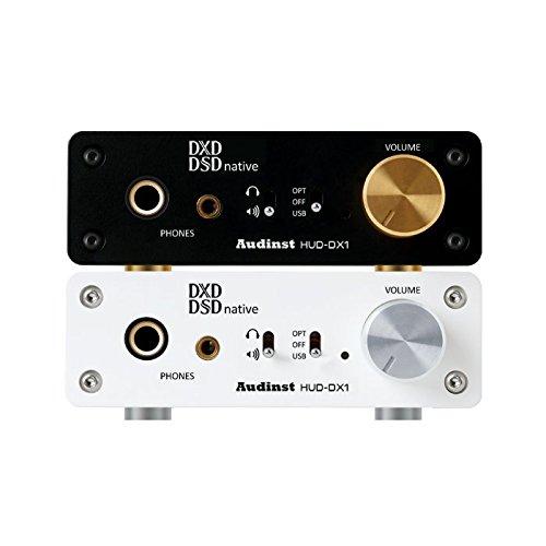 AUDINST HUD-DX1 (WHITE) Audiophile USB Audio DAC & Headphone Amp by AUDINST