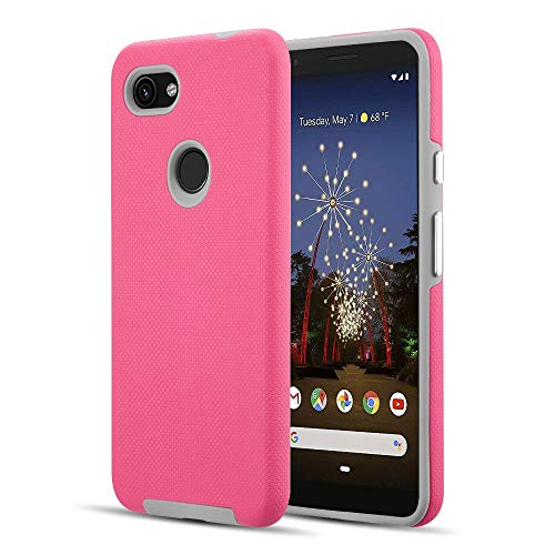 Bemz Grip Armor Compatible with Google Pixel 3a XL Case - Pink/Gray