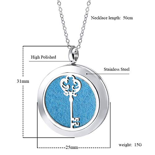 Modogirl Aromatherapy Essential Oil Diffuser Locket Luck Key Necklace Engraved Sweet 16