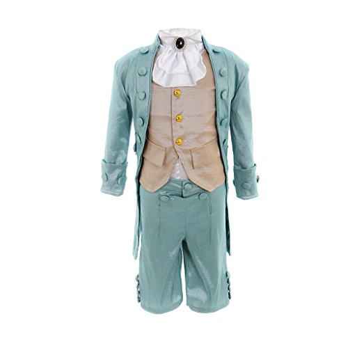 1791's lady Men's Costume Victorian Regency Tailcoat Steampunk Halloween Costumes (Large, Light Blue)]()