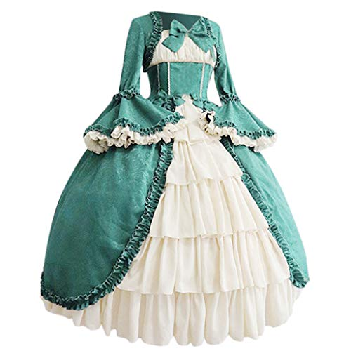 Cheap Plus Size Halloween Costumes Australia (Dainzuy Women's Vintage Gothic Slim Fit Lolita Dress Fashion Princess Dress Cosplay Halloween Costume for Women)