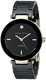 Anne Klein Women's AK/1018BKBK Ceramic Diamond Dial Black Bracelet Watch (B008BLZU50) | Amazon price tracker / tracking, Amazon price history charts, Amazon price watches, Amazon price drop alerts