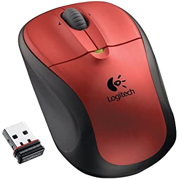Logitech Wireless Mouse M305 (Crimson Red) - 910-001895
