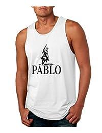 Allntrends Men's Tank Top Pablo Escobar El Patron Mexicanos Cool Top