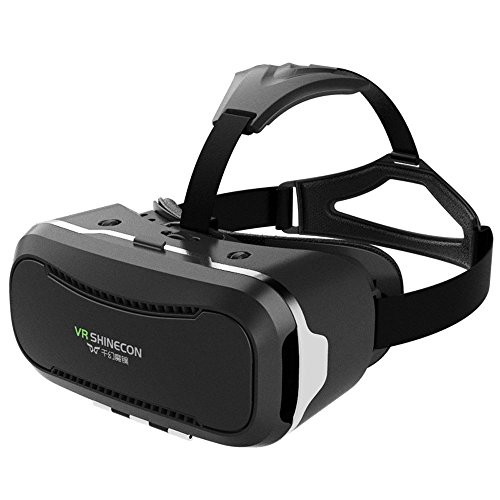"Tekit VR Shinecon 2.0 II 3D Virtual Reality Glasses w/Pupil distance adjustment 360 degree Viewing Immersive Virtual Reality 3D Glasses VR headset VR Goggle for iPhone/Android Smartphone 4.7""-6.0"""