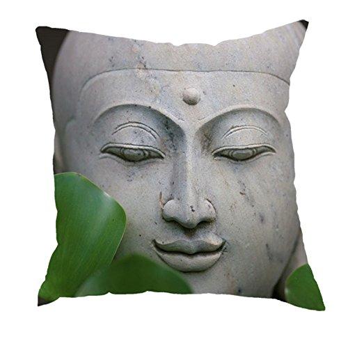 dodola Decorative Throw Pillow Covers Buddha Bamboo Cotton Linen Cushion Covers for Spa Meditation Yoga Room Decor 4Pcs by dodola (Image #4)