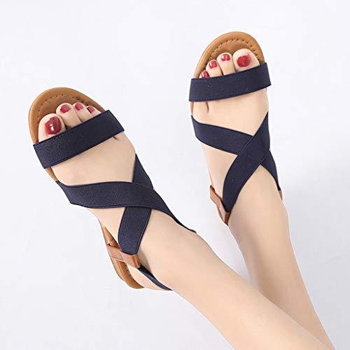 Beautyjourney Sandales Fleur Sandale Bleue Noir Flip À Talons Orthopedique Strass Tong Flop Femme Talon En Pantoufle Femmes A Fl1cKJ