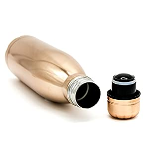 EMPORIA - Stainless Steel Thermal Water Bottle, features double walled vacuum insulation that keeps your drinks COLD or HOT for HOURS. Comes in 3 sizes to suit your needs! (Copper Metallic, 500ML)