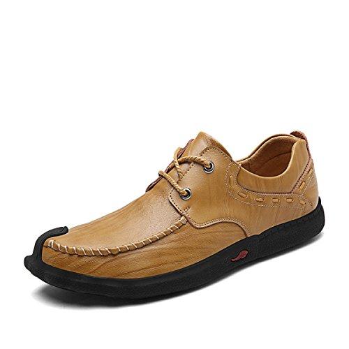 Jeunesse La Pied La Main des Mode en Set Conduite Cuir LYZGF Hommes Décontractée Chaussures à Kaki Paresseux pxU4fBq45w