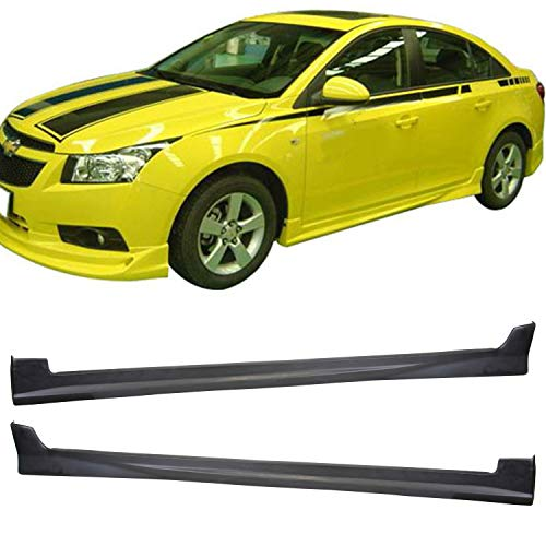 TC Sportline BO-CHCR110342 Type-1 Polyurethane PU Side Skirt Spoiler for 2011-2012 Chevy Cruze