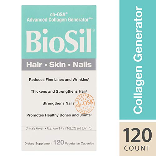 (BioSil by Natural Factors, Hair, Skin, Nails, Supports Collagen Production to Help Reduce Wrinkles, Vegetarian, 120 Capsules (120 Servings) (FFP))