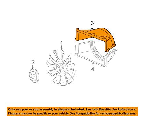 Genuine GM 25868538 Engine Cooling Fan Shroud, Upper - Upper Shroud