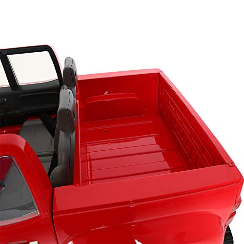 41zWaSPYwAL - Rollplay 12 Volt Chevy Silverado Truck Ride On Toy, Battery-Powered Kid's Ride On Car - Red