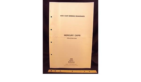 [DIAGRAM_5UK]  1991 MERCURY Capri Electrical Wiring Diagrams / Schematics: Ford Motor  Company: Amazon.com: Books | 1991 Mercury Capri Wiring Diagram |  | Amazon.com