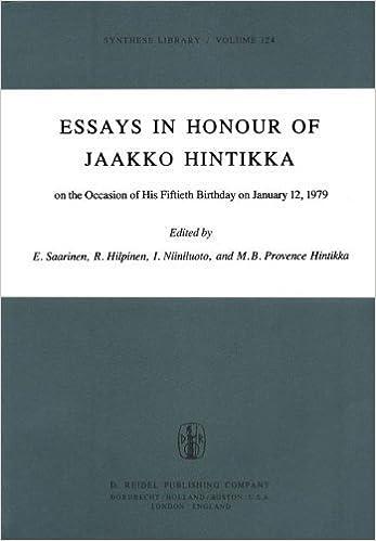 Essays in Honour of Jaakko Hintikka: On the Occasion of His Fiftieth Birthday on January 12, 1979