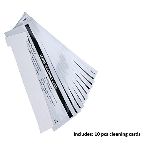 Cleanmo Cleaning Card Kit for Badgy 200/100 ID Card Printer, A Set of 10 Cards,Daily Maintenance with Cleaning Kit to Keep Printing Performance