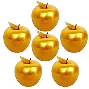 Lorigun 6 Pcs Golden Apples Golden Fruit Crafts Home Decoration Christmas Decor 75
