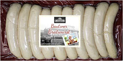 Rostbratwurst grob   Die würzige Bratwurst   Echte Bautzner Wurst zum Grillen   10 x 100g