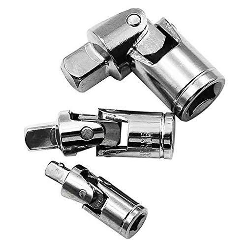 ErYao Universal Adapter Sleeve Wrench Joint, 1/4, 3/8 and 1/2, 3pcs (Silver)