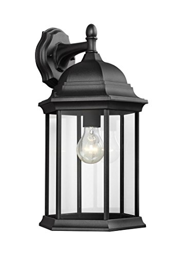 Sea Gull Lighting 8438701-12 Sevier Large One Light Downlight Outdoor Wall Lantern, Black