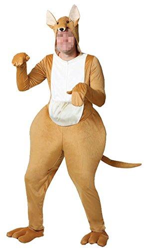 Kangaroo Mascot Costumes (Ameyda Unisex Adults Kids Kangaroo Mascot One Piece Cosplay Animal Costume)