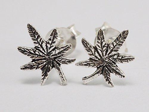 925-sterling-silver-earring-cartilage-for-women-ear-stud-helix-tragus-marijuana-pot-leaf-0g-8mm-wide