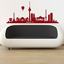 Berlin Germany Named Skyline Rest of the World Wall Stickers Home Art Decals available in 5 Sizes and 25 Colours X-Large Fuchsia Pink