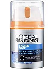 L'Oréal Men Expert Falten Stop Gesichtscreme, mit hochdosierter Anti-Aging Wirkung und Feuchtigkeitspflege, Soforteffekt gegen Minik-Falten (50ml)