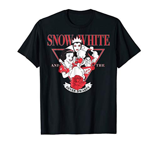 Disney Snow White Evil Queen Edgy Rose Graphic T-Shirt ()