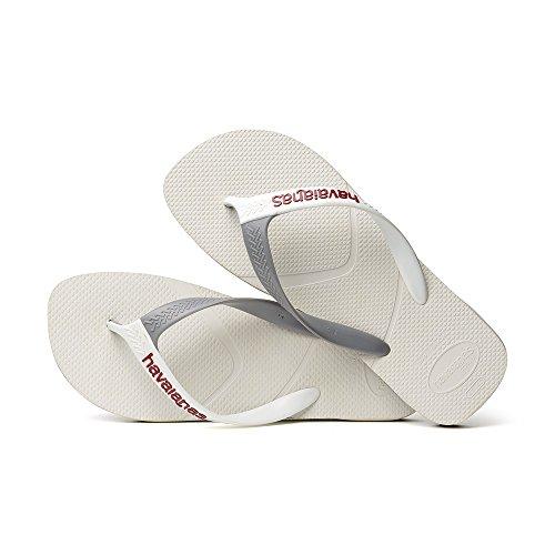 Havainas Havaianas Flip Flop Logo - Brasil Sandalias De Playa - Flip Flop Havaianas Casual Blanco