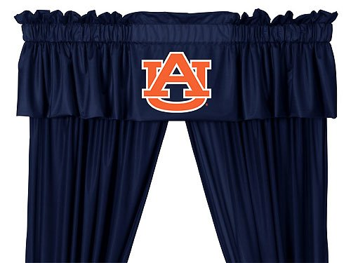NCAA Auburn Tigers - 5pc Jersey Drapes Curtains and Valance (Tigers Drapes)