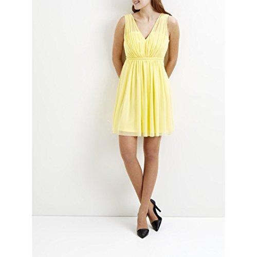 VILA CLOTHES Vicotina - Vestido para Mujer Amarillo