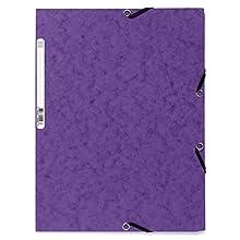 Exacompta 55508E - Carpeta con goma, A4, color morado