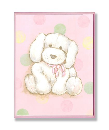 - The Kids Room by Stupell Puppy with Polka Dot Background Rectangle Wall Plaque