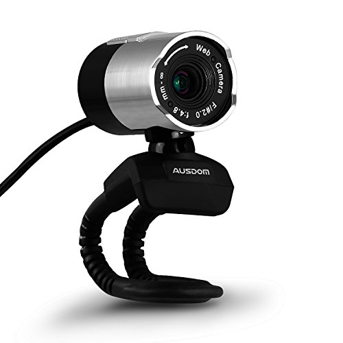 AUSDOM HD Webcam 1080P USB Computer Camera Portable Web Cam Web Camera Rotates 360 Degree Network Camera with Built-in Microphone for Skype Youtube Desktop Computer PC Laptop