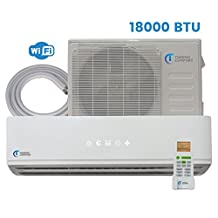 Mini Split Air Conditioner - 18000 BTU - 1.5 Ton - 21.5 SEER Inverter with WiFi - Ductless Heat Pump - AC Unit Split System For Heating & Cooling 230V