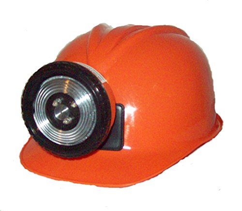 Miner Costume For Halloween (Childrens Orange Construction Lighted Miner Hard Hat)