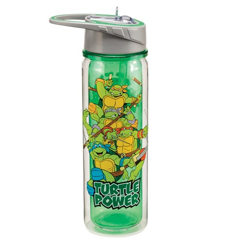 Large Teenage Mutant Ninja Turtles (Vandor 38075 Teenage Mutant Ninja Turtles 18 oz Tritan Water Bottle, Multicolor)