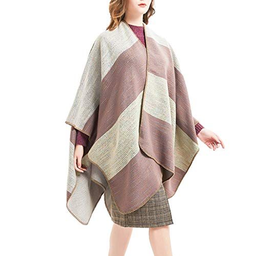 YX XY Womens Large Shawl Thick Style Wool Scarf Patchwork Shawl New Years Scarf Blanket Shawl Wrap 158X126cm Scarves