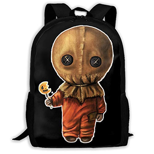 High-Capacity Unisex Adult Backpack Sam Trick 'R Treat Halloween Bookbag Travel Bag Schoolbags Laptop Bag