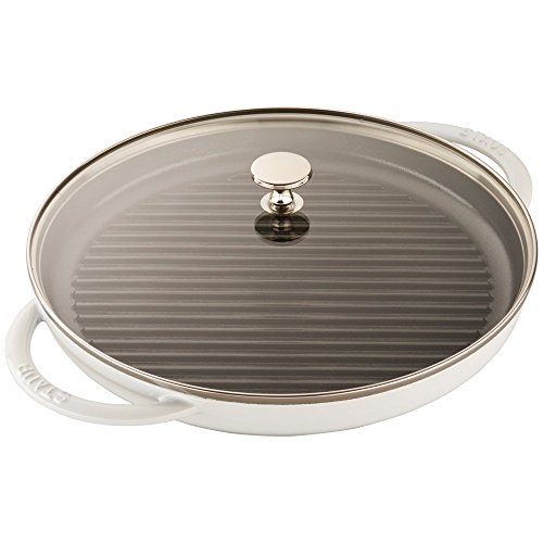 Staub Cast Iron 12 Round Steam Grill - White