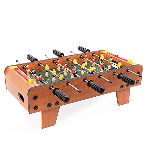 Table Soccer Foosballs/Tabletop Foosball,Deluxe Mini,Table Top Football,Foosball Family,Fun Gam,Suitable for People Over Three Years Old,Brown