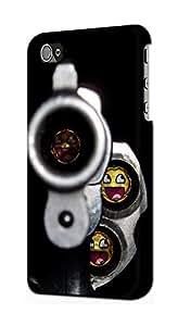 E1109 Smile Bullet Gun Funda Carcasa Case para IPHONE 4 4S