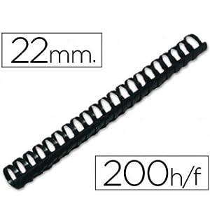 color negro Fellowes Espiral para encuadernaci/ón 25 unidades, pl/ástico, 16 mm, A4