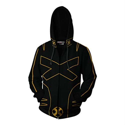 Marvel X-Men Custome Hoodie X-Men Dark Phoenix Hoodie 3D Print Sweatshirt X-Men Cosplay Custome Small Black