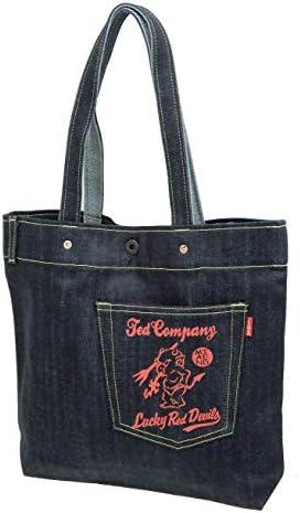 デニム トートバッグ TDBG-900 エフ商会 メンズ 鞄 インディゴ×オレンジ