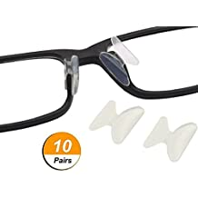 AM Landen 10 Pairs 2.5mm Transparent Non-slip Silicone Stick on Nose Pads for Eyeglass Nose pad