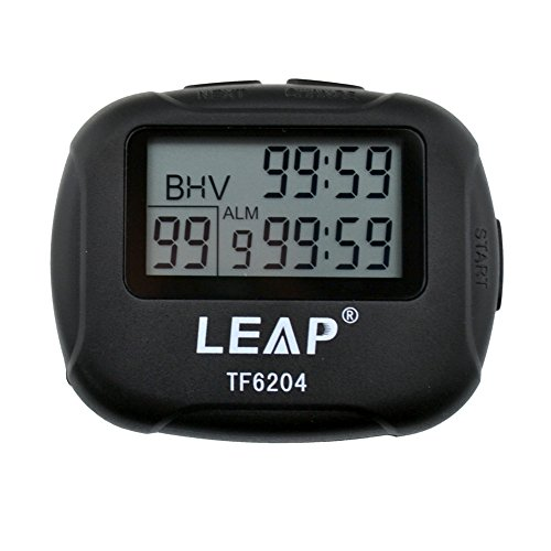 Timer Interval (Interval Timer,Ckeyin Best Digital Sports Stopwatch Countdown LCD Clock for Crossfit,Tabata,Yoga,Hilt,Cardio,MMA/Boxing,Kettlebell,Weight lifting,Running,Stretch,and Other Sports Trainings)